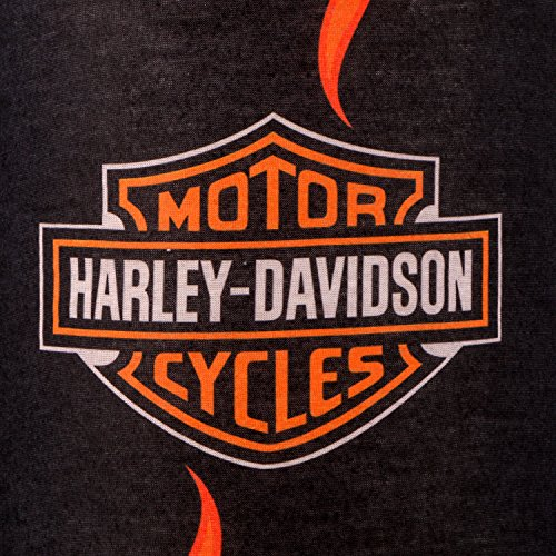 Autofy Unisex Harley Logo Print Lycra Headwrap Bandana for Bikes (Black and Yellow, Freesize)