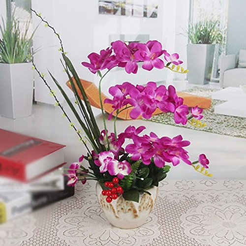 LIXIAOXIN Simulation Butterfly Orchid Topfpflanzen Dekoration False Ornamente Violett