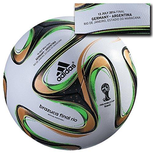 adidas Brazuca Final Ball Deutschland Argentinien Germany 2014 Fußball WM World Cup Finale Rio Official Offizieller Match Soccer Ball Weltmeisterschaft Weltmeister Brasilien Size Größe 5 -