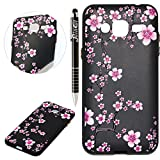 Custodia Galaxy J3 2016, Galaxy J3 2016 Cover Silicone, SainCat Cover per Samsung Galaxy J3 2016 Custodia Silicone Morbido, Creative Design Custodia Cover Flower Ultra Slim Silicone Case Ultra Sottile Morbida TPU Cover Case Shock-Absorption Cover Gel Anti Scivolo Custodia Protettiva Cover Gomma Case Caso Ultra Thin Slim Protettiva Anti-scratch Skin Cover Shell Case Coperture Bumper Cover per Samsung Galaxy J3 2016-Ciliegia immagine