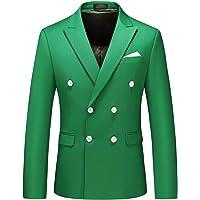 MOGU Mens Casual Blazer Double Breasted Jacket Slim Fit Suit Jackets Solid Coat Jacket Business Blazer Jacket Dinner…