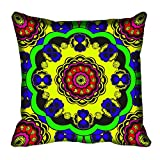 meSleep Circle Ethnic Design Digital Printed Cushion Cover 16x16 best price on Amazon @ Rs. 199