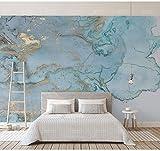Zxxcv Bleu Texture Papier Peint Marbre Murale 3D Mur Photo Photo Murale 3D Murale Murale 3D Marbre Papier Peint, 400 * 280Cm