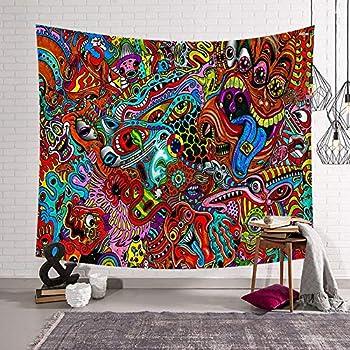 Bohemian Couvre-lit indienne hippie D/écoration murale /à suspendre Bob Marley Tapisserie Mandala Coton D/écoration de Dortoir de plage Couverture