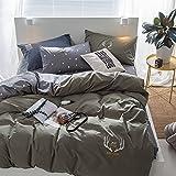 100% Baumwolle bettwäsche-set Aktiver Druck- und Färbeprozess Bettbezug 3pcs Doppelbett (Bettbezug x1, Kissen Bezug x2)