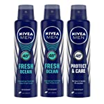 Buy 2 Nivea Fresh Ocean Deodorant For Men, 150ml & Get 1 Free Nivea Protect Care Deodorant For Men, 150ml