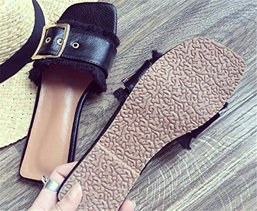 FLYRCX Onorevoli moda estate carattere flat top pantofole antislittamento b