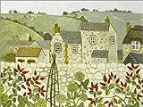 Posterlounge Acrylglasbild 40 x 30 cm: Blick über die Gartenmauer von Vanessa Bowman/Bridgeman Images - Wandbild, Acryl Glasbild, Druck auf Acryl Glas Bild