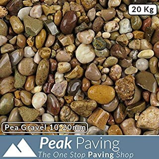 Pea Gravel 10-20mm | Aggregates | Slate Chippings | Pebbles | Gardens | 20 Kg