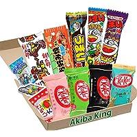 Kit Kat chocolate y prueba Japonés Dagashi Caja Umaibo snack gomoso papa frita w / AKIBA KING Pegatina