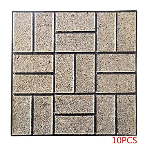 Babysbreath17 10pcs Wand-Papier-3D-Anti-Kollisions Wall Panel Self-Adhesive Lattice Brick Aufkleber-Raum-Dekor 1 30 * 30 * 0.4cm -