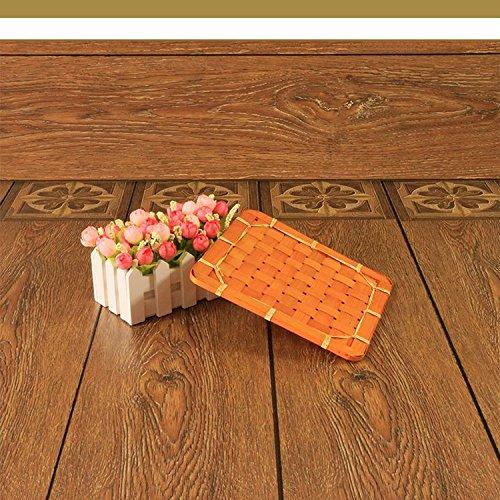 XBRsquare square bamboo mat huit creative pot mat tableau mat bowl pad pad taille isolation de bambou,le jaune,25 * 25 cm