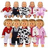 Miunana Abiti Vestiti Per Bambola Bambolotti Dolls (5 Abiti Per Bambolotti)