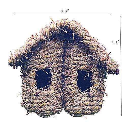 pagei Handgemachte Stroh Vogelnest Käfig Haus Brut Zucht Höhle In 3 Größe Für Papageien Kanarienvogel Oder Nymphensittich Oder Andere Vögel ()