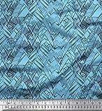 Soimoi Blau schwere Leinwand Stoff Skizze Berg Natur Stoff