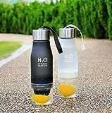 Wasserflasche, tragbar, für Getränke mit Zitronenspritzer, für eigenes Wasser mit Obstgeschmack, Saft, Eistee, Limonade & Getränke mit Kohlensäure, 650ml, blau, 24.3 cm high x 7cm diameter