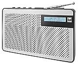 Dual DAB 82 tragbares Digitalradio (UKW/DAB+ Tuner, Senderspeicherfunktion, LC-Display, Kopfhöreranschluss) Silber