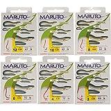 Maruto Aalhaken Aal Haken Aalangeln Wurmhaken, Angelhaken zum Aalfischen, rote Haken fertig gebunden für Aale, Größe:8