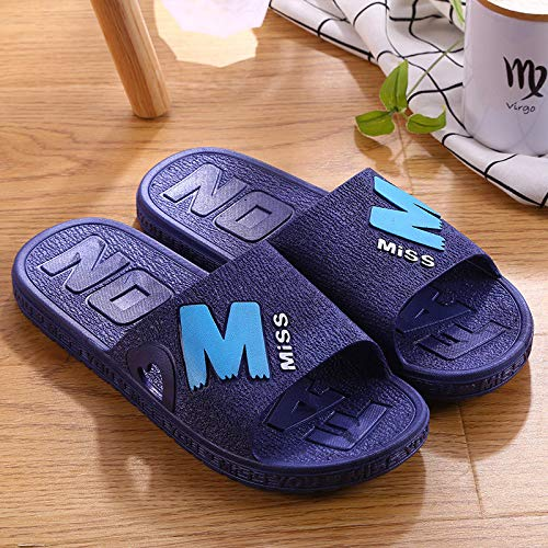 Northerncold Quick-Drying Shower Sandals,Summer Bathroom Shower Sandals, Indoor Thick Bottom Home Slippers, royal Blue_37,Pool Beach Shoes