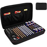 Makerfire Battery Organiser Case Storage Box with Battery Tester (BT168), Carrying Case Bag fits for 146 Batteries for…