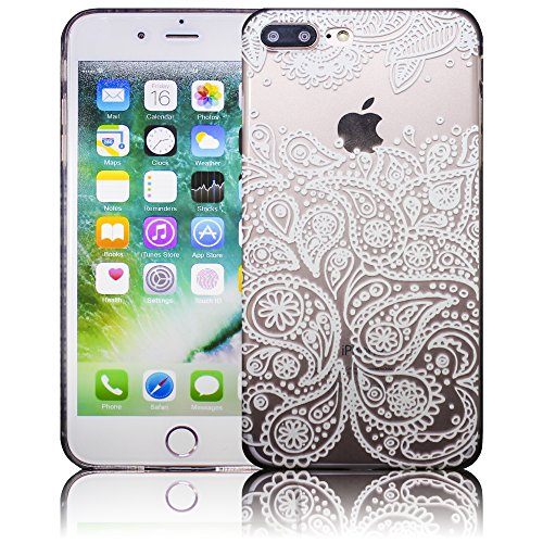 Apple iPhone 7 Plus - Design 10 Silikon Crystal Kristall clear transparent durchsichtig Schutz-Hülle Hülle weiche Tasche Cover Case Bumper Etui Flip smartphone handy backcover Schutzhülle Handyhülle t Design 7