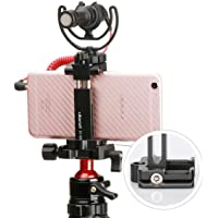 ULANZI ST-03 Metal Smart Phone Tripod Mount Adapter with Cold Shoe Mount Arca-Style Quick Release Plate for Xiaomi Vivo…