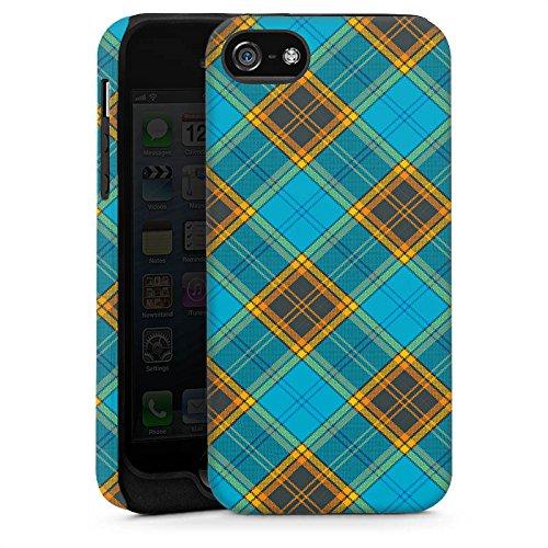 Apple iPhone 5s Housse Étui Protection Coque Carreau Motif Motif Cas Tough brillant