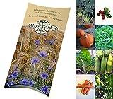 Bio-Saatgut Set:Gemüse-Garten 8 bewährte Samen-Sorten für den Biogarten in schöner Geschenk-Verpackung