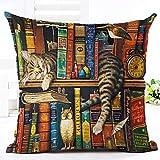 """minuya Gatto Stampa Su Tessuto colorato quadrato cuscino federa per cuscino decorativo del cuscino del divano letto cotone e lino Camera da letto, 3, 45*45cm/17.7*17.7"""""""