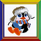 "Riolis HB158 Kreuzstich-Set ""Pinguin"", Baumwolle, Mehrfarbig, 15 x 15 x 0.1 cm"