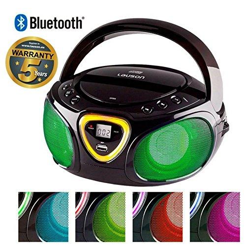 / Fm Mit Am Cd-player Radio (Lauson CP452 CD-Radio Bluetooth Tragbar mit LED-Effekt (USB, AM/FM))