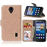 High-end PU Leather Phone Case For Huawei Y635, Solid Color