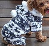 QIYUN.Z Casual Vier Beine Schwarz Weißem Samt Schnee Rehe Weihnachten Hoodie Hund Pullover Winter Warme Jacke Haustier Hunde Bekleidung & Zubehör Shirts Sweater Hoodies S M L Xl Xxl - 6