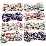 Jastore® bebé turbante pelo niñas recién nacido diadema arco accesorios banda bonita (Style 13 (8 piezas))