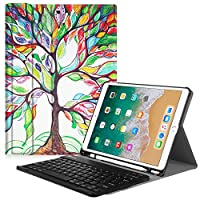 Fintie iPad Pro 10.5 Keyboard Case with Built-in Apple Pencil Holder - SlimShell Protective Cover with Magnetically Detachable Wireless Bluetooth Keyboard for Apple iPad Pro 10.5 Inch 2017, Love Tree