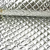 Bekleidungsstoff Steppstoff Lame silberfarbig 1,5m Breite