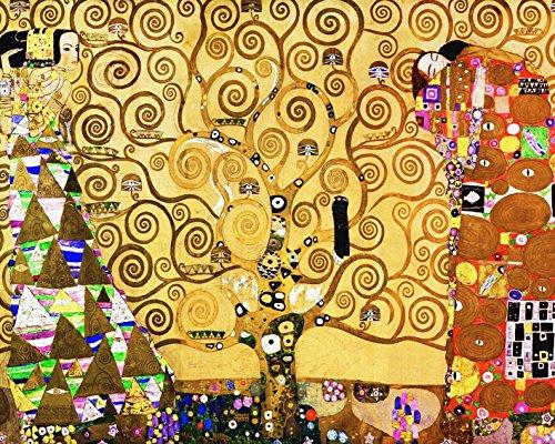 Legendarte P-181 Quadro di  Gustav Klimt - L\'Albero della Vita, Stampa digitale su tela, Multicolore, cm. 80 x 100