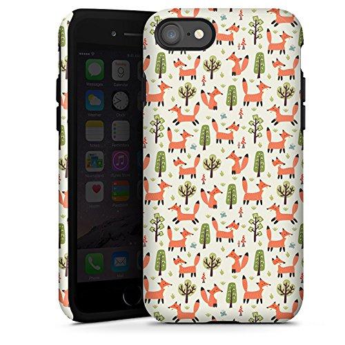 Apple iPhone 7 Plus Silikon Hülle Case Schutzhülle Fuchs Muster Füchse Comic Tough Case glänzend