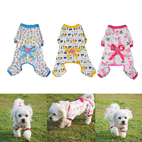 WIDEN Dog Clothing Puppy Shirt Cat Cozy Pajama Clothes Jumpsuit Pet