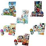 Disney Sac + Gourde + Serviette en éponge, 80x 120cm, différents personnages -  -