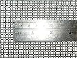 Geflochtenem Draht 8 Netz -30x60cm Größe - 2.5mm Loch - 0.80mm Draht Durchmesser -- Roh Flor Edelstahl 304L
