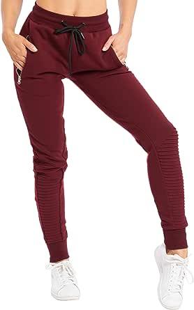 SMILODOX Signore Pantaloni della Tuta 'Ripplez' | Pantaloni della Tuta per Lo Sport Fitness Gym Training |