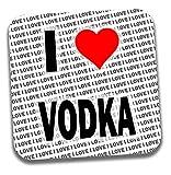 I love Vodka Getränke Untersetzer–Geschenk–Geburtstag–Weihnachten–Strumpffüller