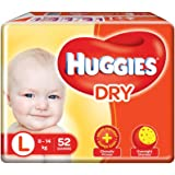 Huggies New Dry, Taped Diapers, Large Size, 52 Counts