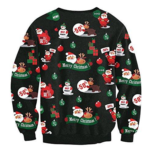 Balai Maglione di Natale per le donne Felpe con cappuccio Felpe con maniche lunghe Pullover Felpe E