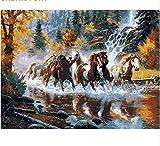 Running Horse DIY Malen nach Zahlen Leinwand Malerei Drucken auf Leinwand einzigartiges Geschenk für Home Decor Wand Artwork 40x50cm