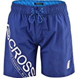 Crosshatch Men's Designer Swimming Shorts Trunks Drawcord Beach Casual Mesh Lined Medium Limoges