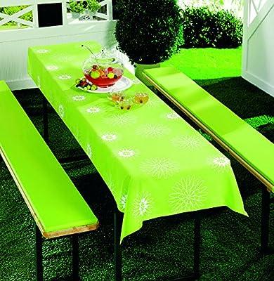 Bierbankauflagen Set 3teilig grün Floral oder blau Sterne 70x240 (für 50 cm Tischbreite) von Heimtex Direkt bei Gartenmöbel von Du und Dein Garten