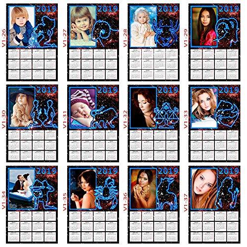 Calendario Segni.Calendario Oroscopo Con Segni Zodiacali 2019 Personalizzabile Con Foto