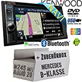 Mercedes B-Klasse W245 Audio 20 - Autoradio Radio Kenwood DNX4180BTS - 2-DIN NAVI | Bluetooth | CD/DVD | Apple CarPlay | Einbauzubehör - Einbause